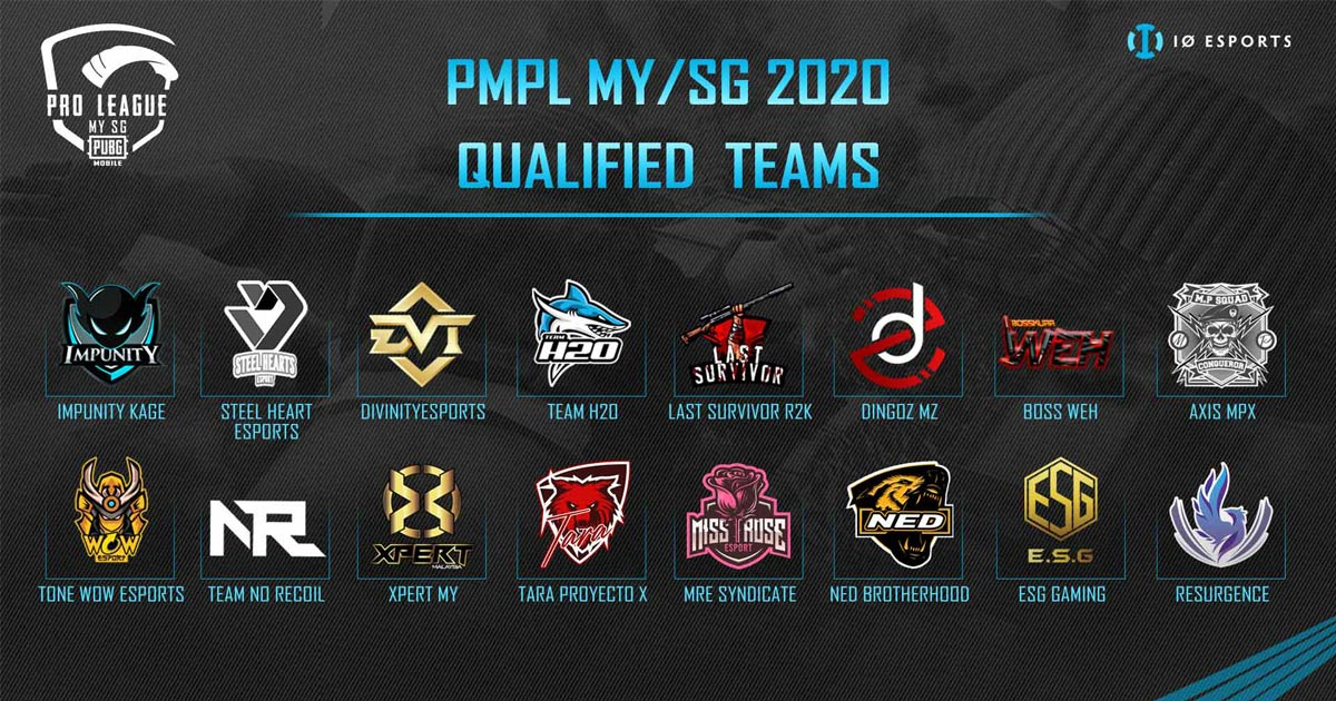 IO Esport 18 Qualified Teams For PMPL MY/SG 2020 Confirmed As Qualifier Finals Concludes